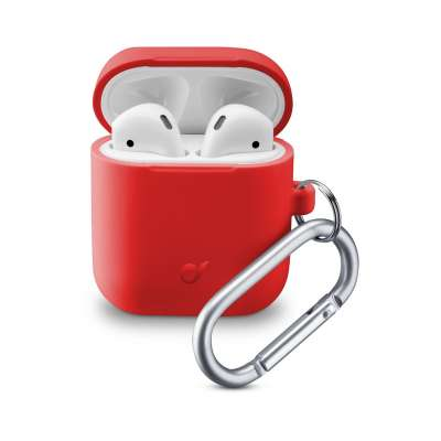 CELLULAR LINE 355813 BOUNCEAIRPODSR Bounce Case airPods 1 & 2 Red