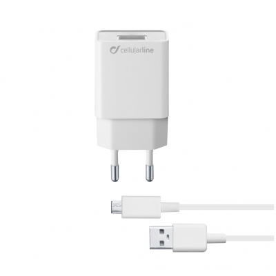 CELLULAR LINE 304002 ACHSMKIT5WMUSBW Charger Kit Samsung 5W MUSB White