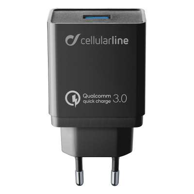 CELLULAR LINE 303869 ACHHUKITQCTYCK Charger Kit Huawei&C QC Type-C Black