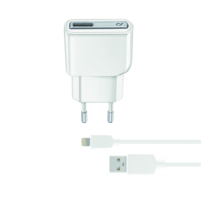CELLULAR LINE 175442 ACHUSBMFIIPH5W Charger Kit iPhone 5W Light White