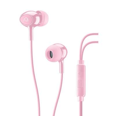 CELLULAR LINE 294136 ACOUSTICP ACOUSTIC Pink In-Ear Earphones With Mic