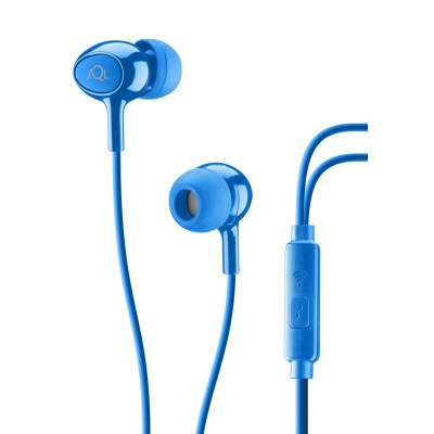 CELLULAR LINE 294129 ACOUSTICB ACOUSTIC Blue In-Ear Earphones With Mic
