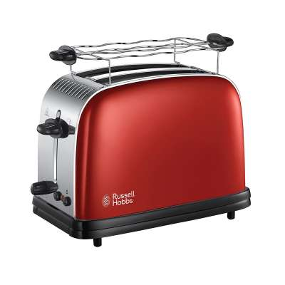RUSSELL HOBBS 23330-56 Colours Plus Flame Red Toaster