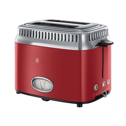 RUSSELL HOBBS 21680-56 Retro Ribbon Red Toaster